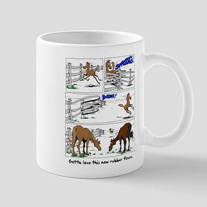 Rubber Horse Fence Mug