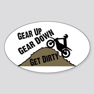 Get Dirty Sticker (Oval)