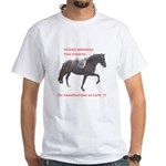 White T-Shirt, Peruvian Paso Stallion