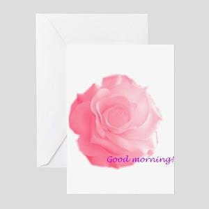 Good Morning Rose Greeting Cards (Pk of 10)