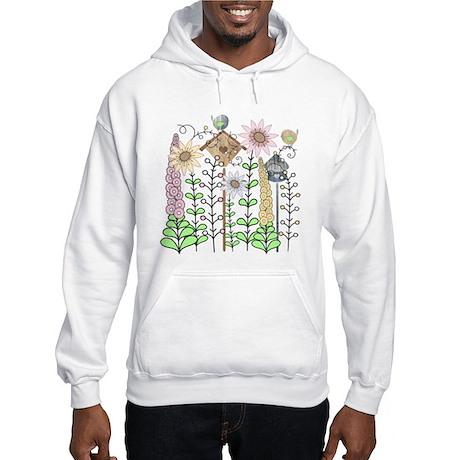 Cottage Garden Birdies Hooded Sweatshirt