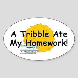 A Tribble ate my homework Sticker (Oval)
