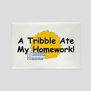 A Tribble ate my homework Rectangle Magnet
