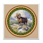 Big Horn Ram Tile Coaster