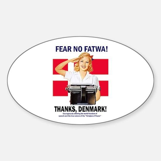 Fear No Fatwa Oval Decal