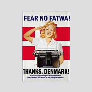 Fear No Fatwa Rectangle Magnet