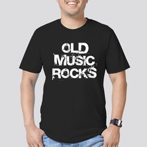 Old Music Rocks Men's Fitted T-Shirt (dark)
