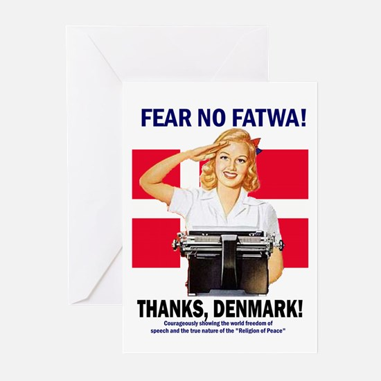 Fear No Fatwa Greeting Cards (Pk of 10)