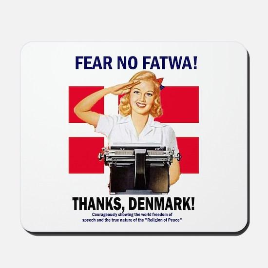 Fear No Fatwa Mousepad