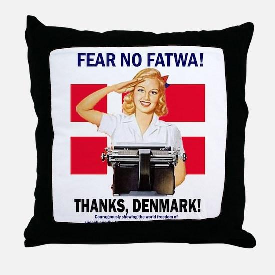 Fear No Fatwa Throw Pillow