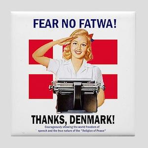 Fear No Fatwa Tile Coaster