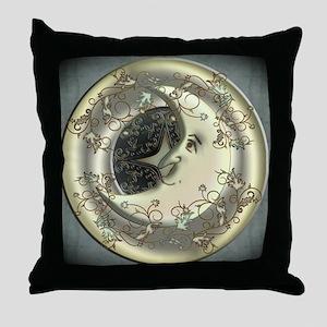 Celestial Moon Throw Pillow