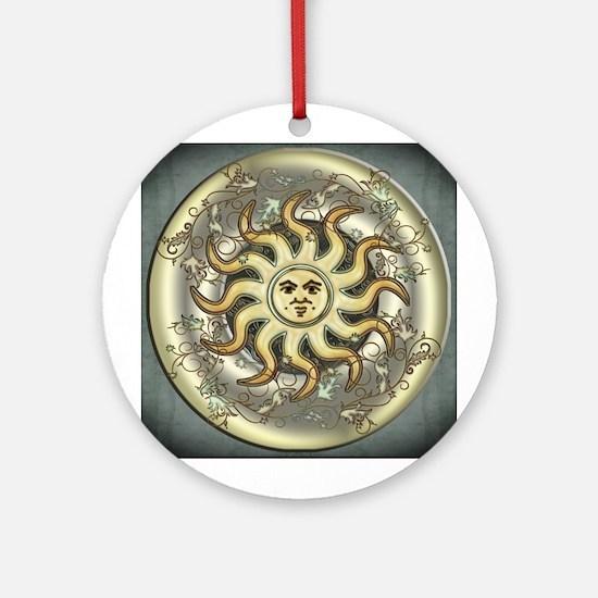 Celestial Sun Ornament (Round)