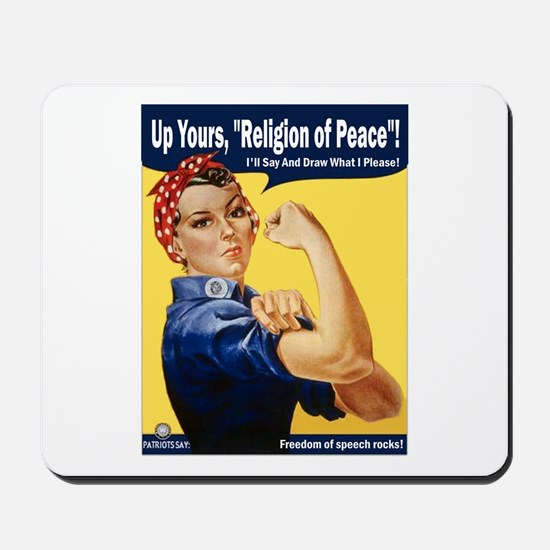 Up Yours, Islam! Mousepad