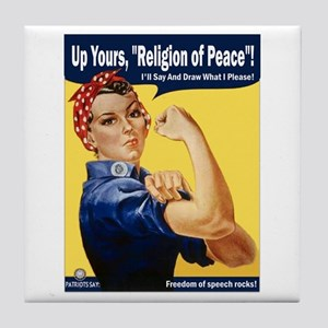 Up Yours, Islam! Tile Coaster