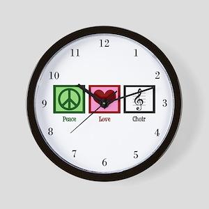 Peace Love Choir Wall Clock