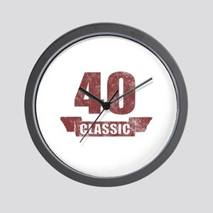 40th Birthday Classic Wall Clock