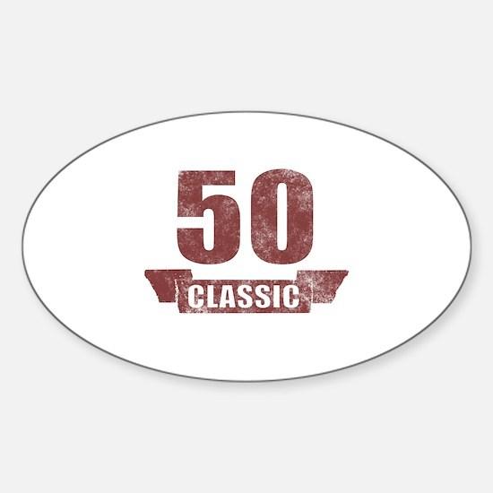 50th Birthday Classic Sticker (Oval)