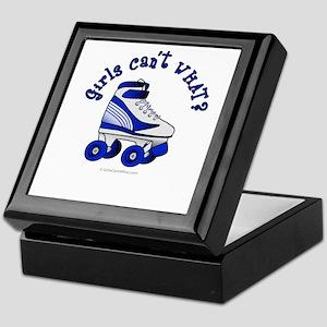 Blue Roller Derby Skate Keepsake Box
