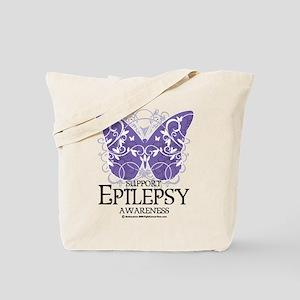 Epilepsy Butterfly Tote Bag