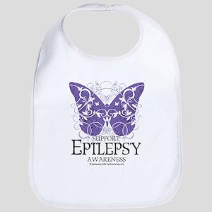 Epilepsy Butterfly Bib
