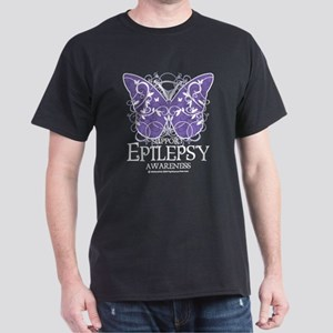 Epilepsy Butterfly Dark T-Shirt