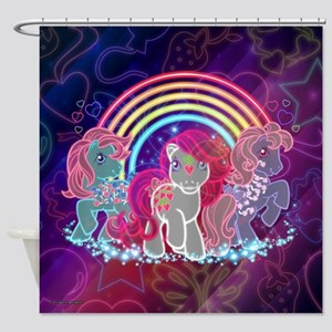 MLP Retro Glow Shower Curtain