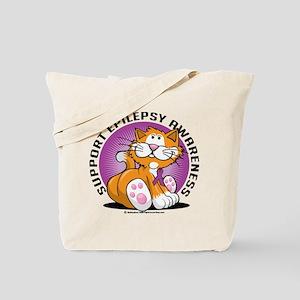Epilepsy Cat Tote Bag