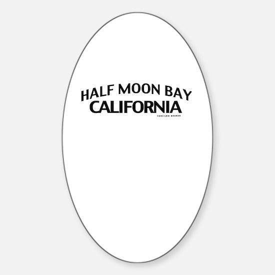 Half Moon Bay Sticker (Oval)
