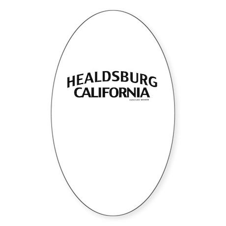 Healdsburg Sticker (Oval)