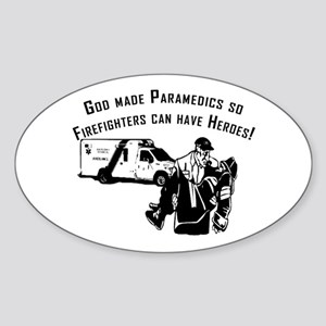 Paramedic Hero Sticker (Oval)