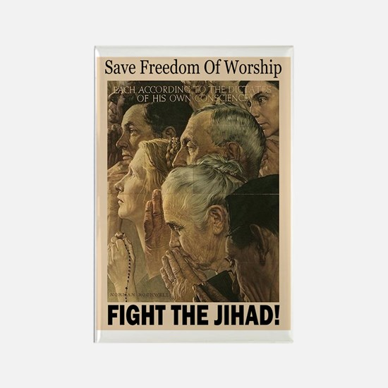 Fight the Jihad Rectangle Magnet