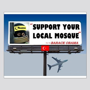 MUSLIMS STICK TOGETHER Small Poster