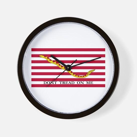 Naval Jack Don't Tread on Me Flag Wall Clock