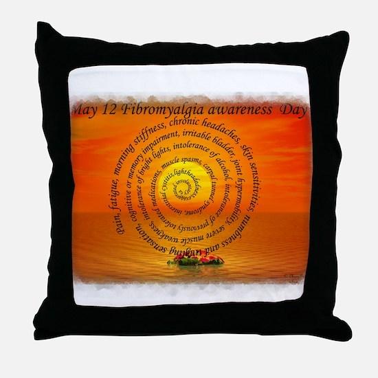 May 12th Fibromyalgia awarene Throw Pillow