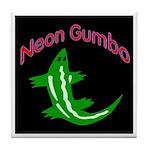 Neon Gator 2 Tile Coaster