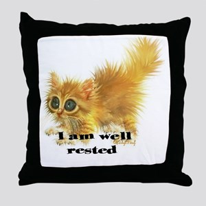 well rested Throw Pillow