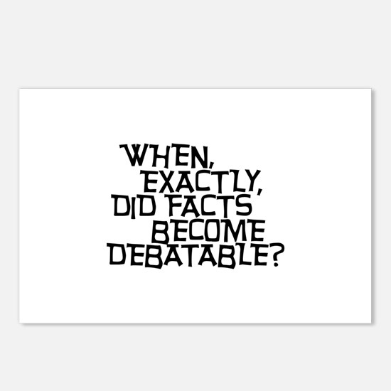 Facts are not Debatable Postcards (Package of 8)