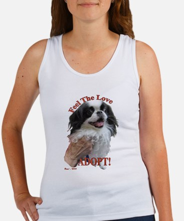Adopt with Japanese Chin Women's Tank Top