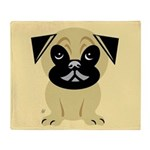 Pug Kids Throw Blanket