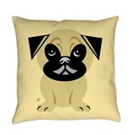 Pug Everyday Pillow