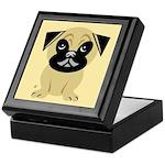 Cartoon Pug Keepsake Box