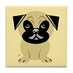 Cartoon Pug Arttile Coaster