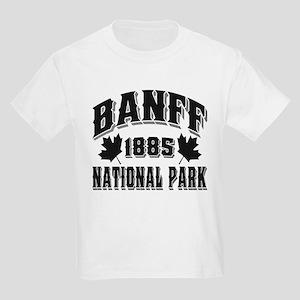 Banff National Park Black Kids Light T-Shirt