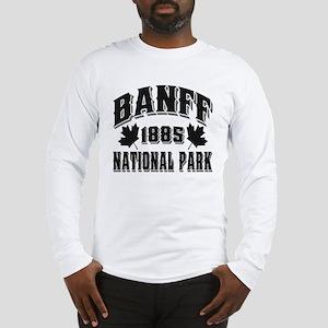 Banff National Park Black Long Sleeve T-Shirt