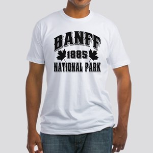 Banff National Park Black Fitted T-Shirt
