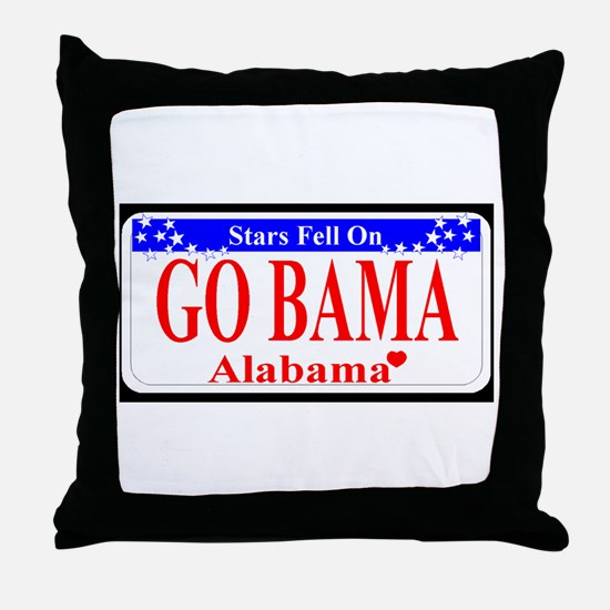 Go Bama! Throw Pillow