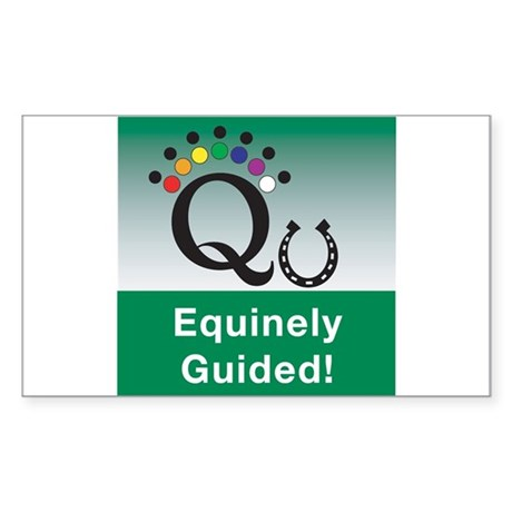 Equinely Guided! Sticker (Rectangle 50 pk)
