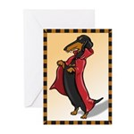 Dachshund Vampire Greeting Cards (Pk of 10)
