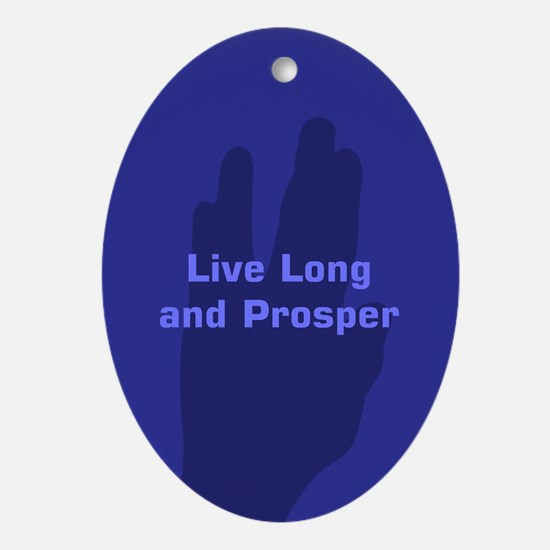Live Long and Prosper Ornament (Oval)